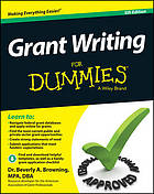 Browning, B. A. (2014). Grant writing for dummies. Hoboken: Wiley.