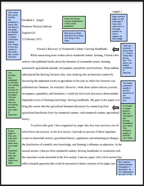 mla citation citation libguides at evergreen valley college  sample of mla formatted paper
