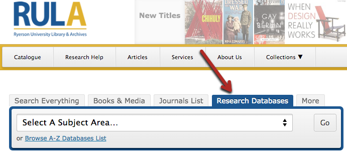 Research articles database