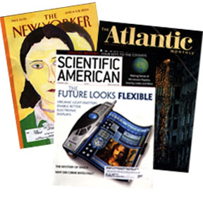 Popular magazines like the New Yorker