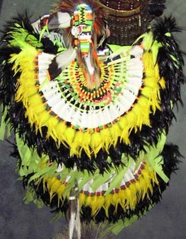 Pow Wow Dancer in Yellow