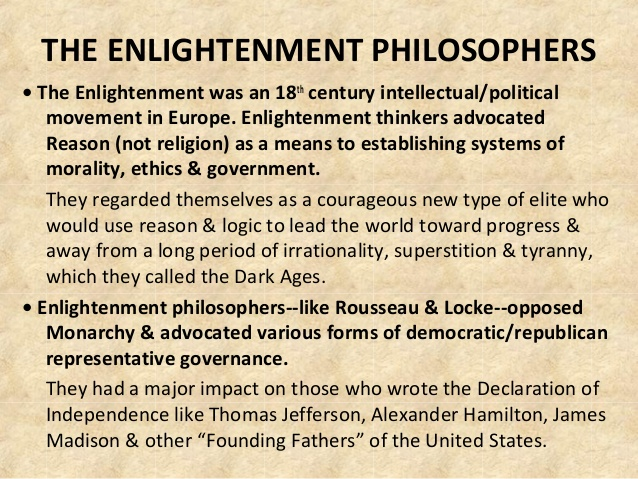 the impact of enlightenment philosophy essay The enlightenment and the great awakening the enlightenment resulted in a philosophy known as deism  impact the movement.