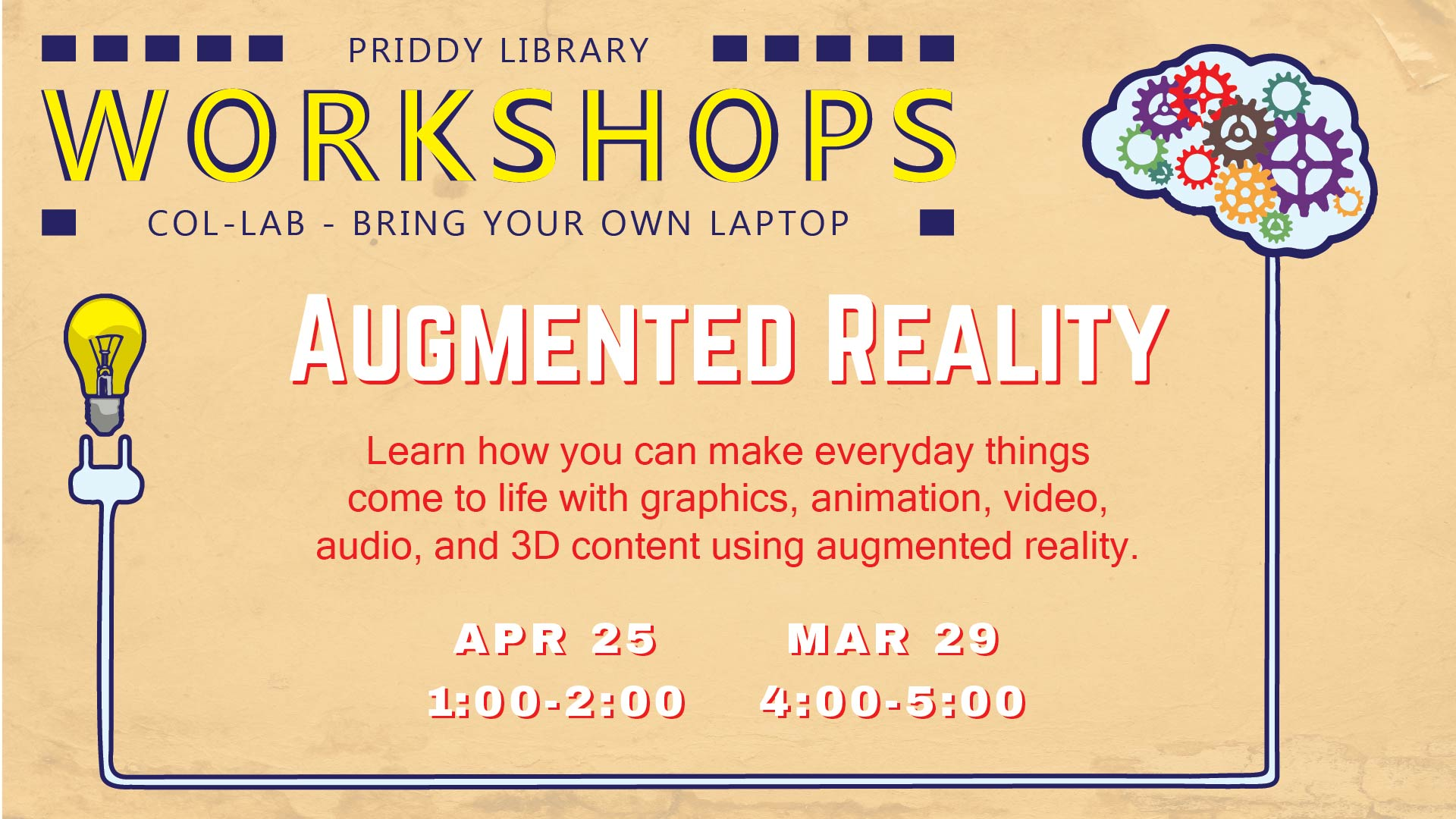 Augmented Reality Workshop Flyer