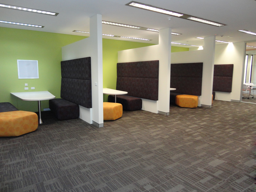 Group study booths at the Bathurst campus