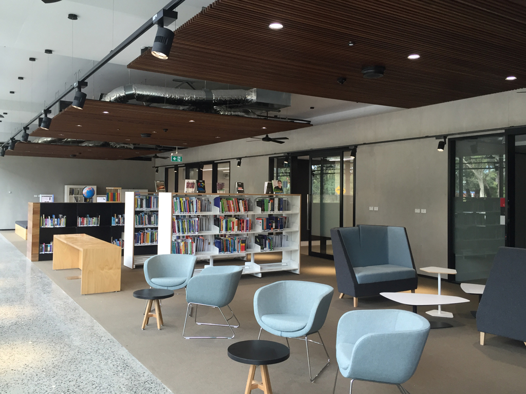Seating and collection at the Port Macquarie campus