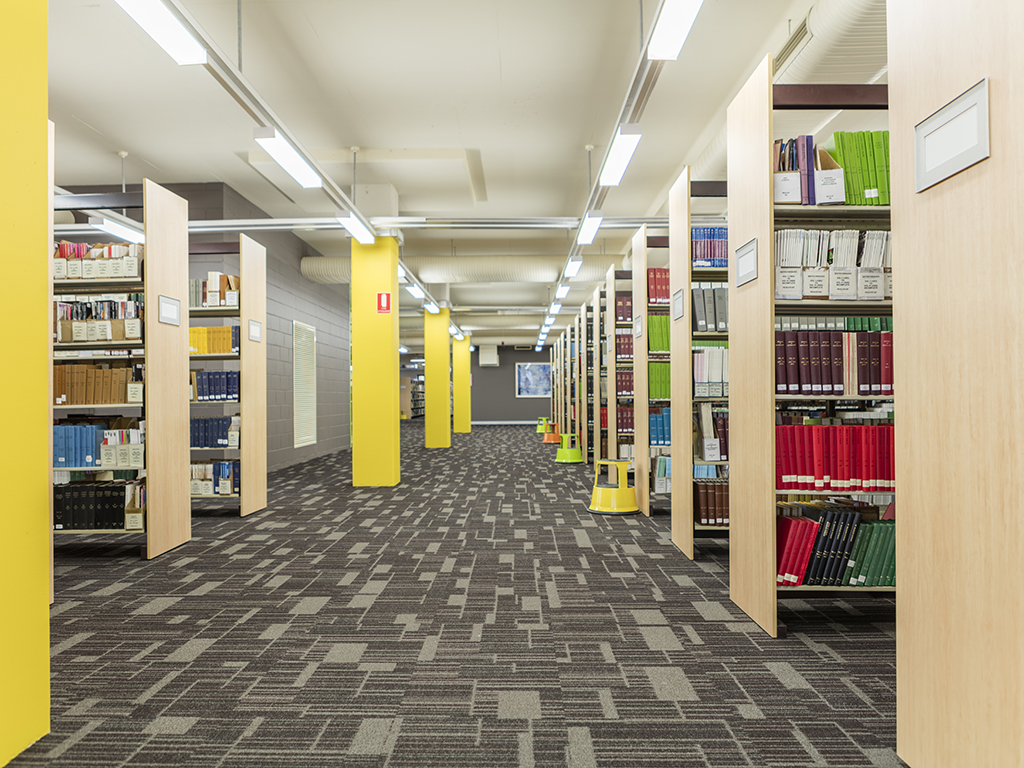 Refreshed carpet, paint and shelving at the Wagga Wagga campus