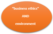 "Library catalogue search ""business ethics"" AND environment"