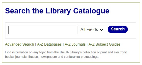 Library catalogue search