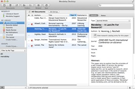 Mendeley Desktop Interface