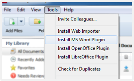 Mendeley microsoft word plugin installation image