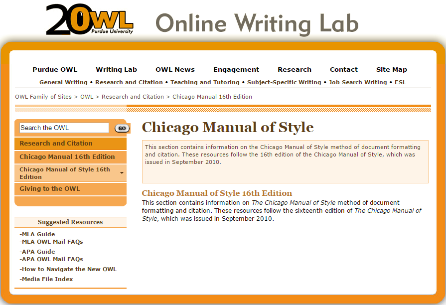 How to cite within a paper chicago style