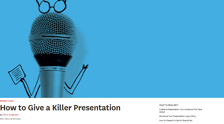 ted talks how to give an academic presentation