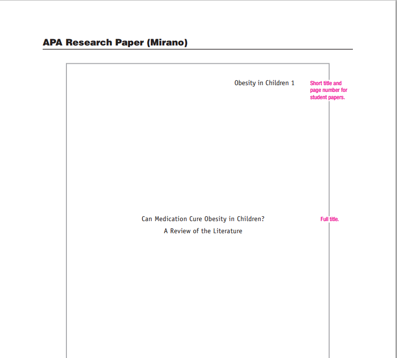 APA Title Page   Writing a Research Paper SlidePlayer