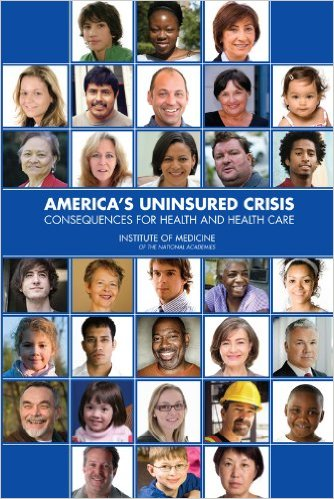 Book cover: america's uninsured crisis