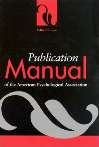 Book cover: APA publication manual 5th edition