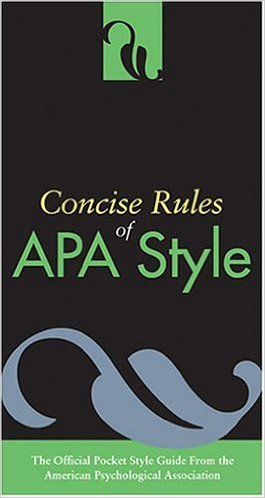 Book cover: Concise rules of APA style