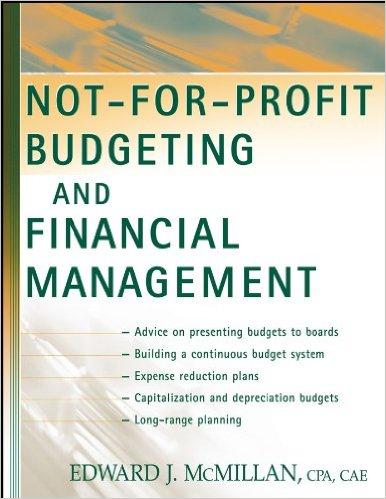 Book cover: not for profit budgeting and financial management