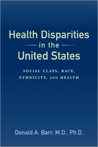Book cover: health disparities in the united states