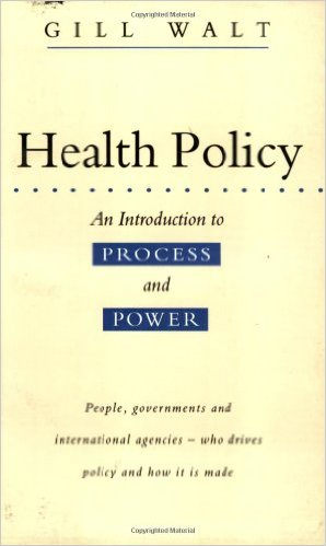 Book cover: health policy: an introduction to process and power