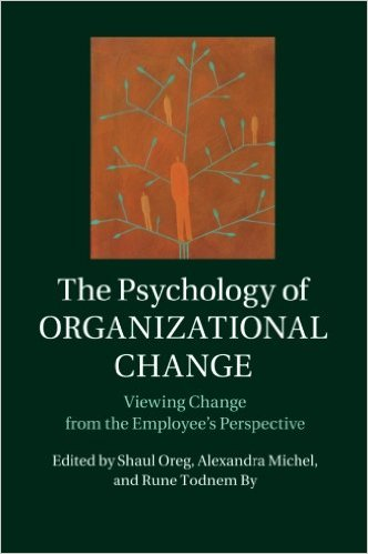 Book cover: the psychology of organizational change