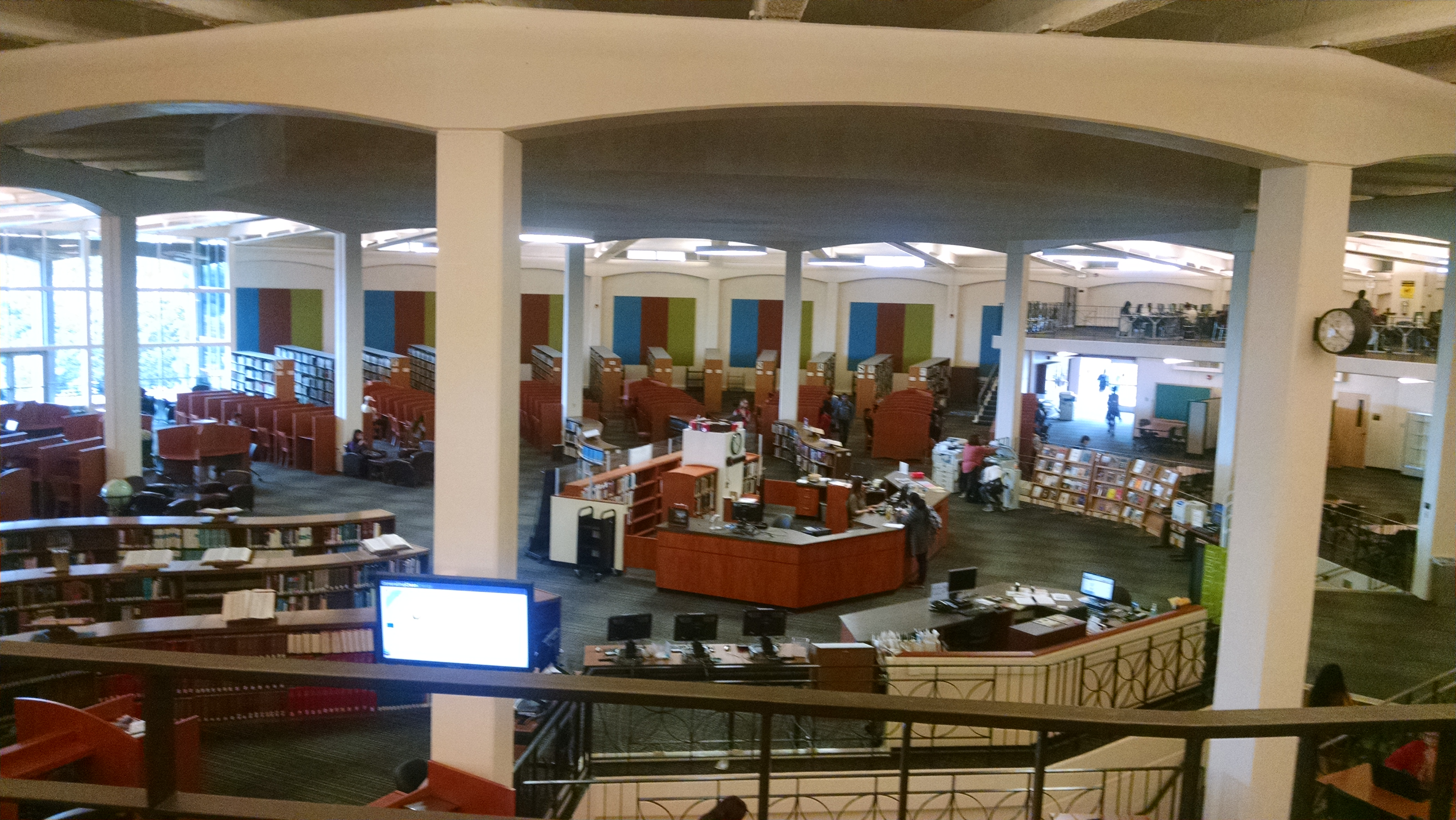 Panoramic View of Library from Mezzannine