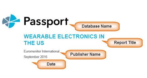 cover page of industry report from the Passport database