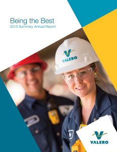 Valero summary annual report cover