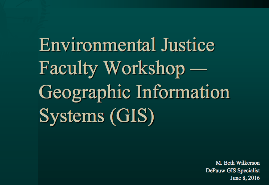 gis for environmental justice an Environmental justice at a local level, gis has been frequently used to engage stakeholders in the planning of environmentally 'bad' sites nuclear power stations , wind farms , landfill sites , and other energy facilities are often subject to nimby opposition for aesthetic, health and social reasons.