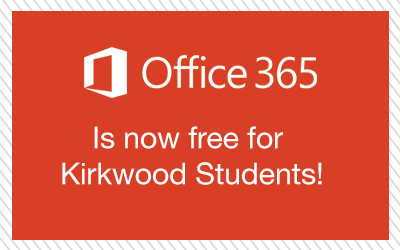 Office 365 is now free for Kirkwood Students!