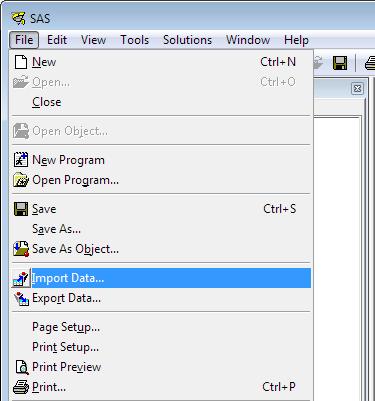 Importing Data into SAS - SAS Tutorials - LibGuides at Kent State ...