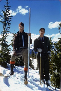 Trail Ridge Road-Parshall and Park Ranger Jones, 1941-05