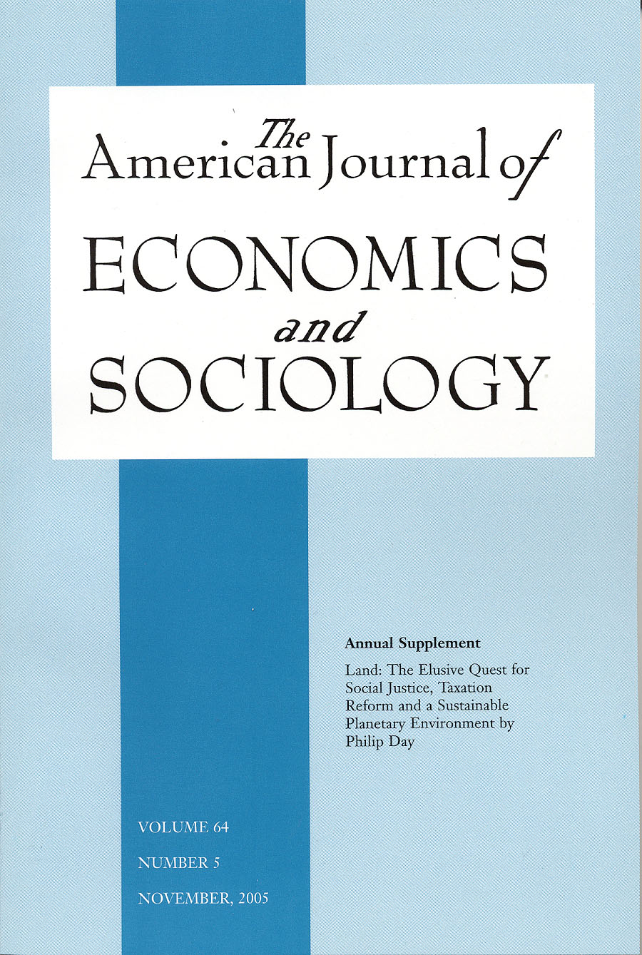 American Journal of Economics and Sociology