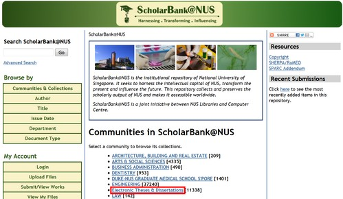 nus thesis database