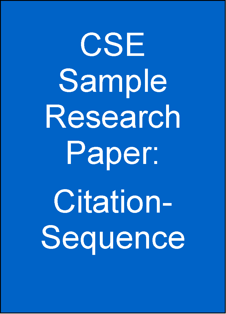 how to write a cse research paper Writing a good research  the question is too broad to be discussed in a typical research paper  write a good research question - review examples of .