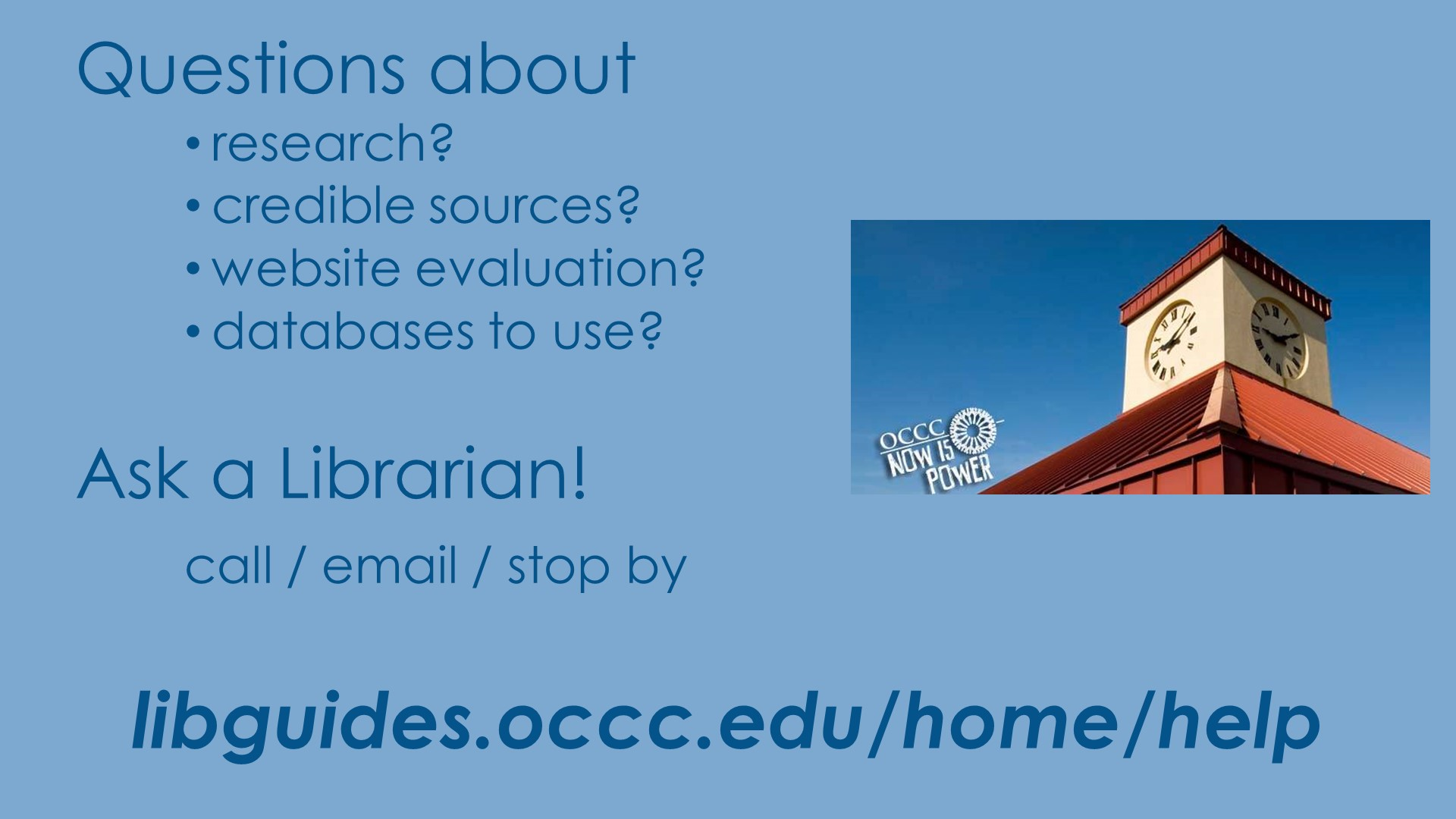 Ask a Librarian Information