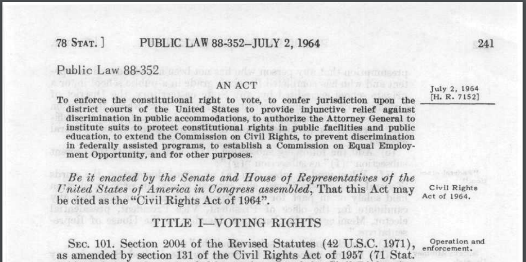 the voting rights act of 196 essay Inside the 50-year campaign to roll back the voting rights act a dream undone dole, who voted for the voting rights act in 1965.