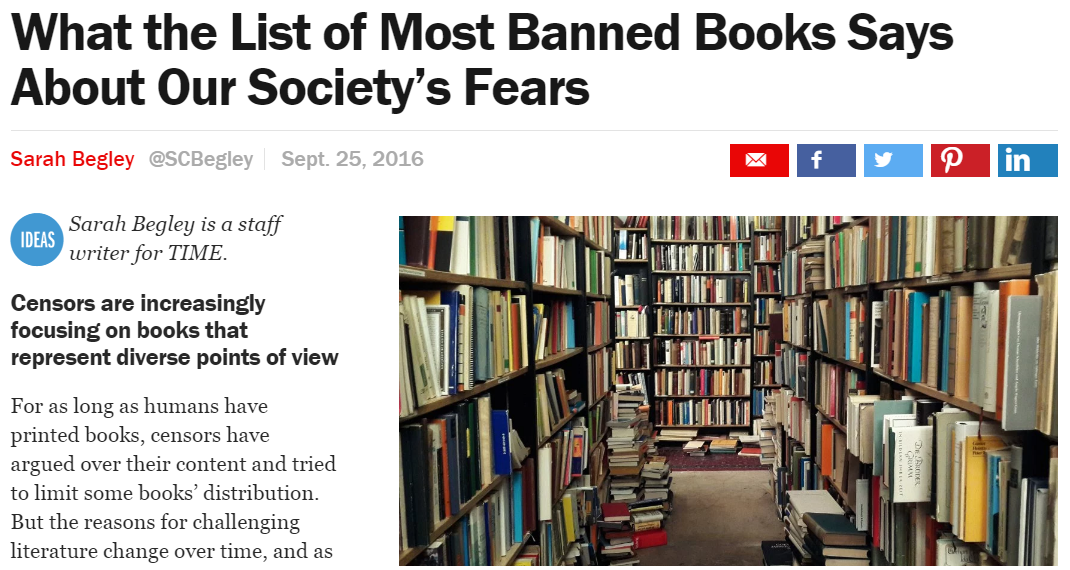 banning of books in the u s essay In the second part of this exclusive essay tomi recalls the moment his  in the  american customs register, my books officially banned from all.