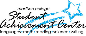 Student Achievement Center logo with blue shooting star