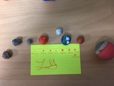 Clay model of the planets