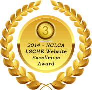 Web excellence award seal from NCLCA : third place