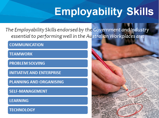 employability skills Welcome to the nevada employability skills for career readiness (escr) standards resource page the 21 escr standards are also known as the 21 va workplace readiness skills (wrs) which are tied to a national certificate of skill attainment.
