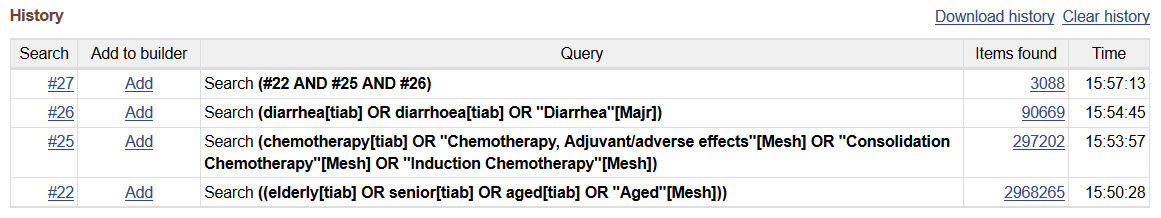 pubmed advanced search using mesh and field tags