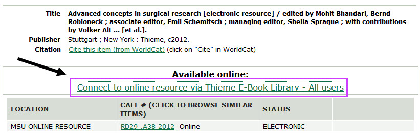 advanced concepts in surgical research thieme catalog record