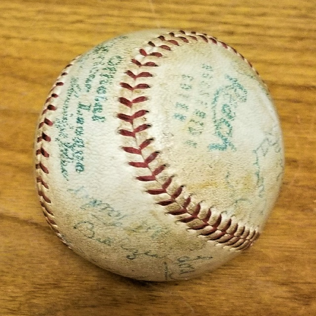 First Varsity Baseball Home Run Hit at C. W. Post College Home Field by William F. Rozea (Class of 1959) in Game Against Adelphi College.