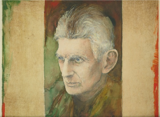 Samuel Beckett, Watercolor and Pencil by Jack Coughlin, 2002