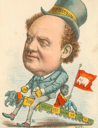"P. T. Barnum Caricature: ""Every Man Rides His Own Hobby"""