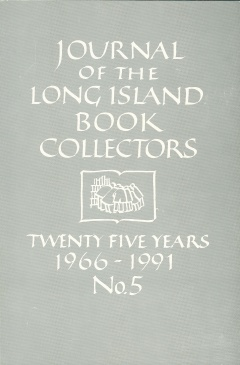 Long Island Book Collectors Journal