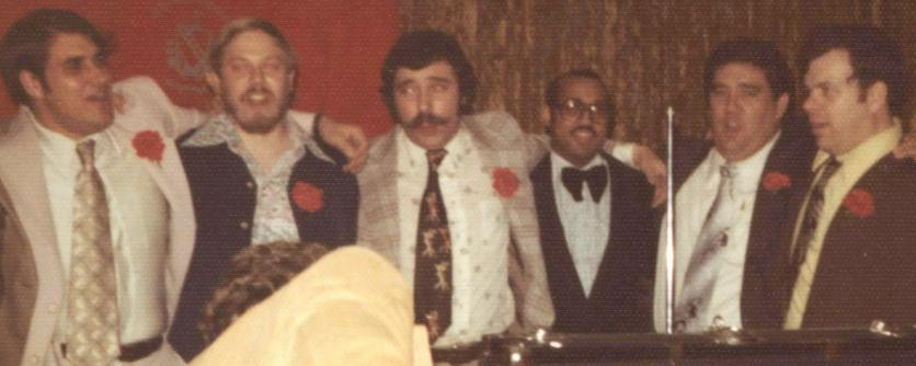 Mel Sylvester and Students at the TKE Celebration, April 1976.