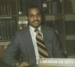 Mel Sylvester in the Library Periodicals Department in 1978.