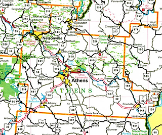 Map of Athens County